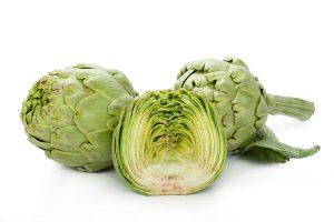 alcachofas.Importación y exportación. frutas y verduras Elche